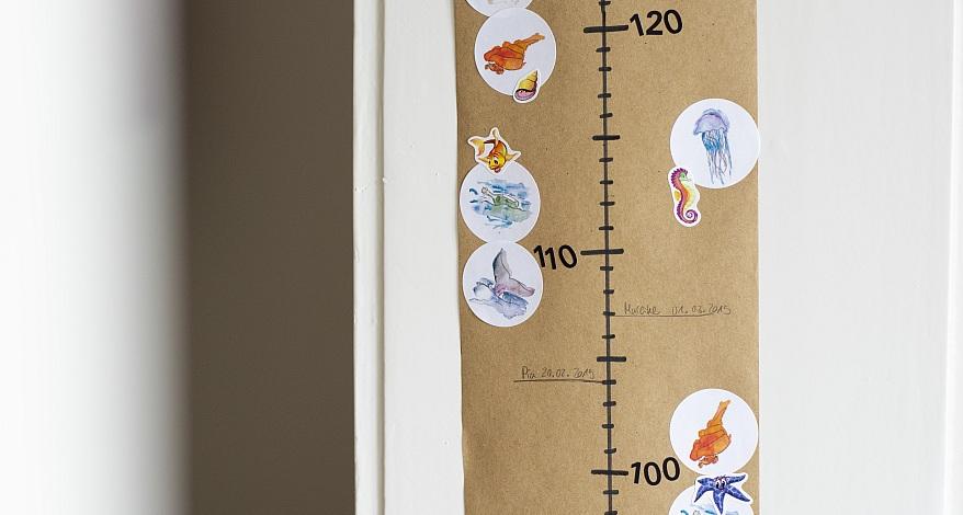 DIY Messlatte für Kinder basteln News Papierhaus